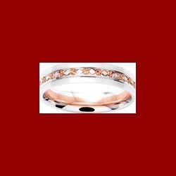 Alliance losange satinée ciselée 4.5 mm