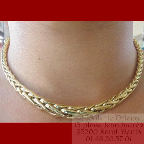 lisse pour toute la famille meilleur choix Collier et Bracelet Palmier Chute Or 18 carat certifié