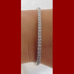 Bracelet rivière de diamants or 18 carats