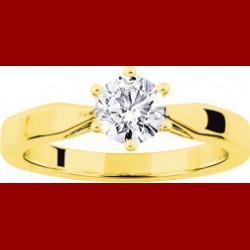 Solitaire diamant 0.70 carat Or 18 carats