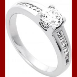 Solitaire diamant 0.75 carat or 18 carats