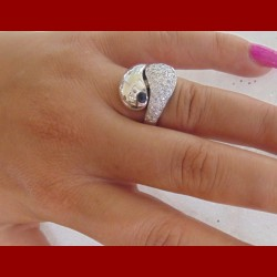 Bague diamant or 18 cts