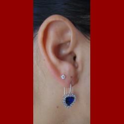 Boucles d'oreilles coeur de l 'océan