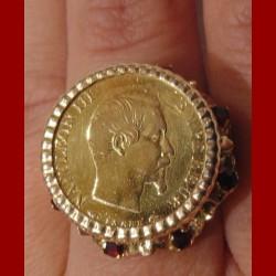 Bague porte pièce napoléon 10 francs
