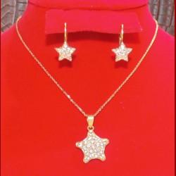 parure 2 pièces étoile or 18 carats