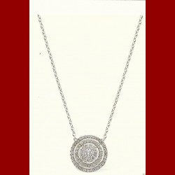 Collier cercle diamants 0.35 carats