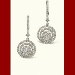 Boucles d'oreilles cercle diamant 0.75 carats