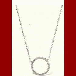 collier cercle diamants 0.14 carats