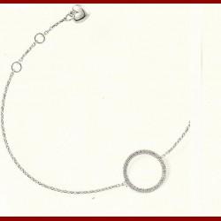 Bracelet cercle diamant 0.17 carat