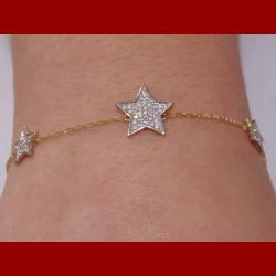 bracelet étoile oxyde de zirconium