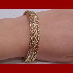 Bracelet 3 ors mailles russe