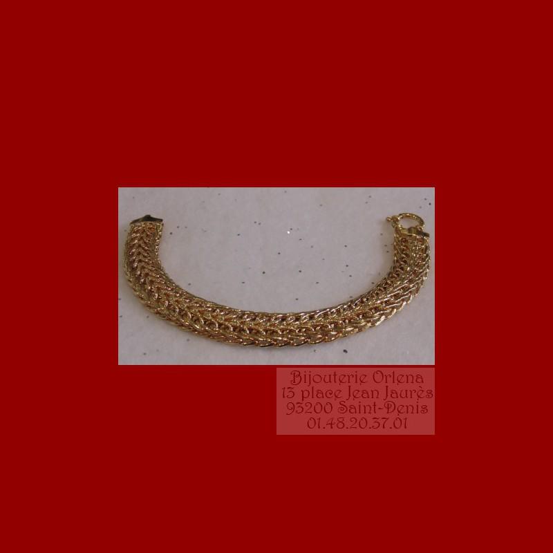 bracelet russe or 18 carats bijouterie orlena. Black Bedroom Furniture Sets. Home Design Ideas