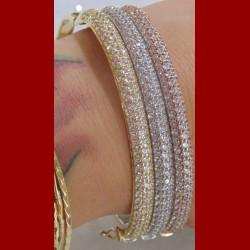 Bracelet triple jonc 3 ors