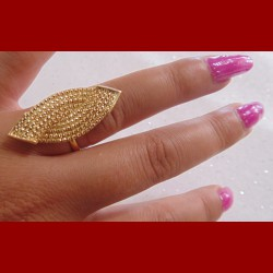 Bague sissi AJUSTABLE 18cts