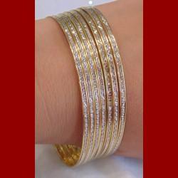bracelet 2ors ciselée