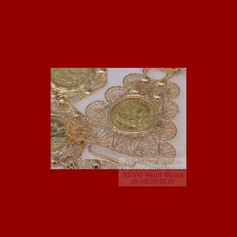 le plus fiable plus bas rabais en soldes ceinture,orientale,napoléon,18 carats,Orlena,pièce,mesquia