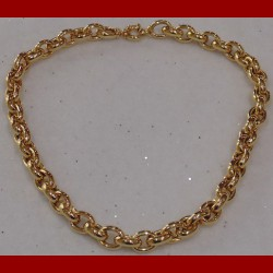 Collier forcat lisse or 18 carats