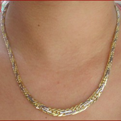 Collier maille russe 2 ors