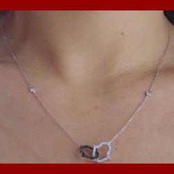 Chaine et bracelet main oxyde