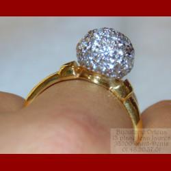 Bague sphère or 18 carats