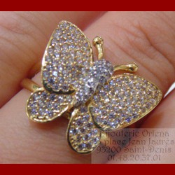 Bague Papillon or 18 carats