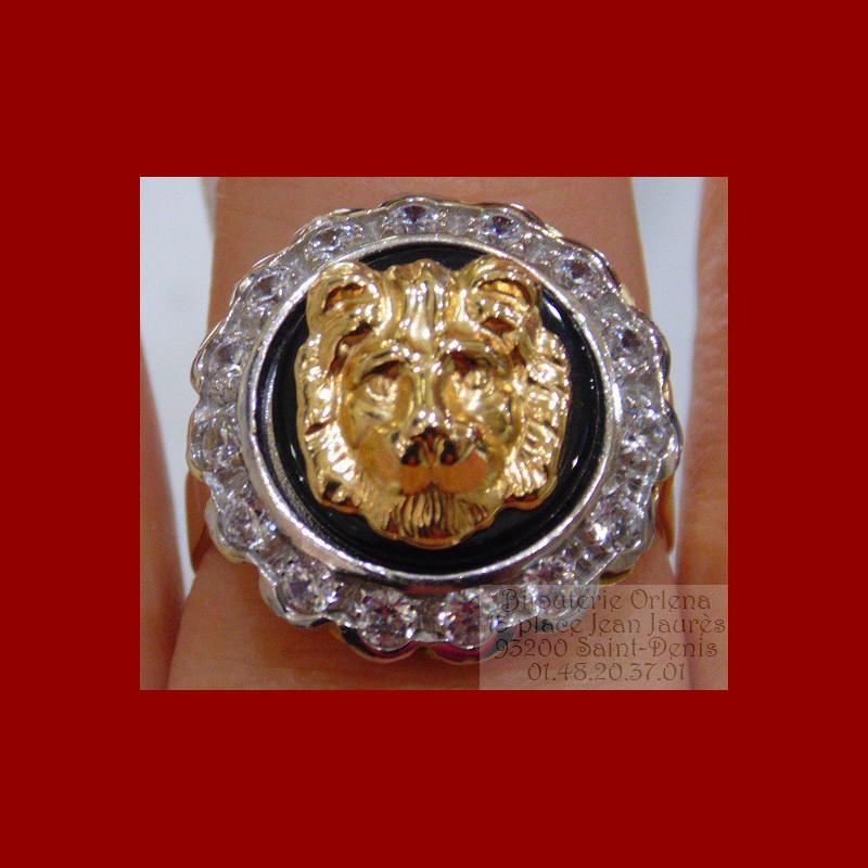 bague onyx lion or 18 carats bijouterie orlena. Black Bedroom Furniture Sets. Home Design Ideas