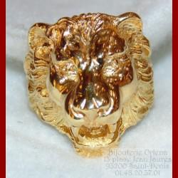 chevali re lion or 18 carats bijouterie orlena. Black Bedroom Furniture Sets. Home Design Ideas