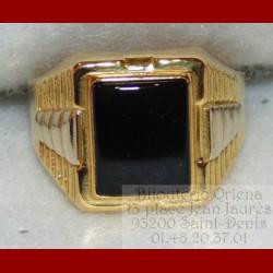 Chevalière onyx 2ors 18 carats