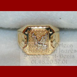 Chevalière aigle or 18 carats