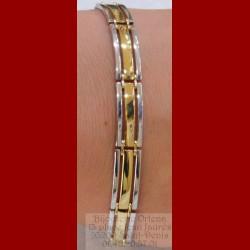 Bracelet homme 2 ors 18 carats