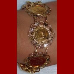 Bracelet napoléon or 18 carats