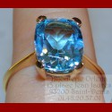 Bague topaze bleu Or 18 carats