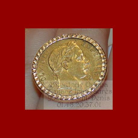 Bague porte pièce de 10 francs Napoléon
