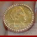 Bague porte pièce de 20 francs Napoléon
