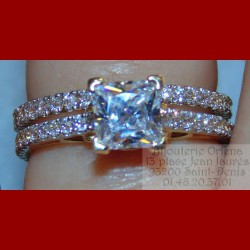 Duo Solitaire et Alliance Or 18 carats