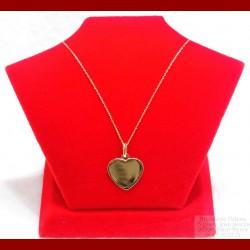 Pendentif coeur à graver avec sa chaine Or 18 carats