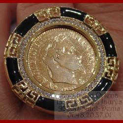 Bague porte pièce 10 francs or 18 carats