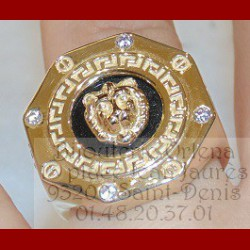 Bague Octogonale Lion Or 18 carats