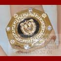 Bague Octogonale Lion Or 18 carats