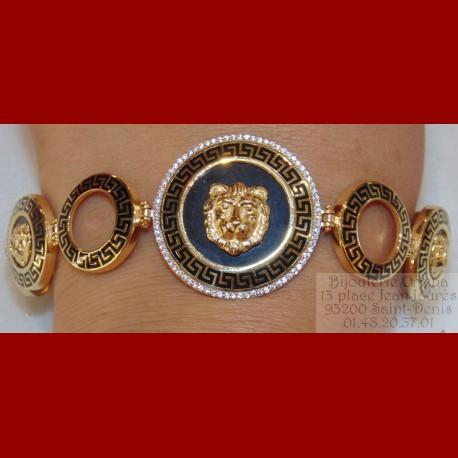 Bracelet triple Lion Or 18 carats
