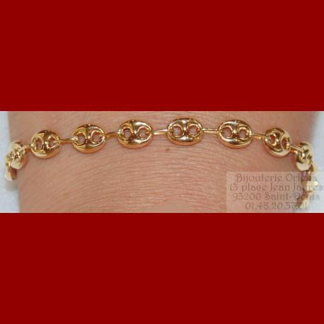site réputé 87fe5 8e7af Bracelet Grain De Café Or 18 Carats