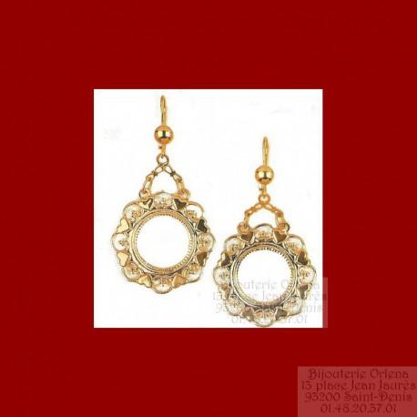 Boucles d'oreilles orientales pièces 10 francs