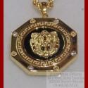 Pendentif Octogonale Lion Onyx Or 18 carats