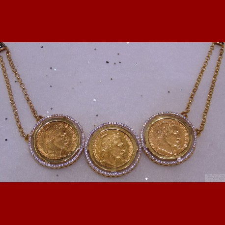 Collier Triple Napolèon or 18 carats