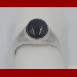 Chevalière Onyx Ovale Argent