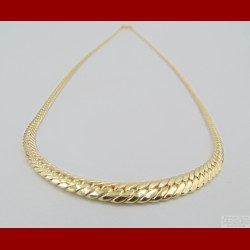 Collier Maille Anglaise en Chute Or 18 Carats