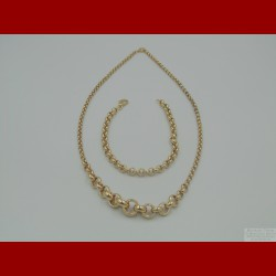 Collier et Bracelet Or 18 Carats