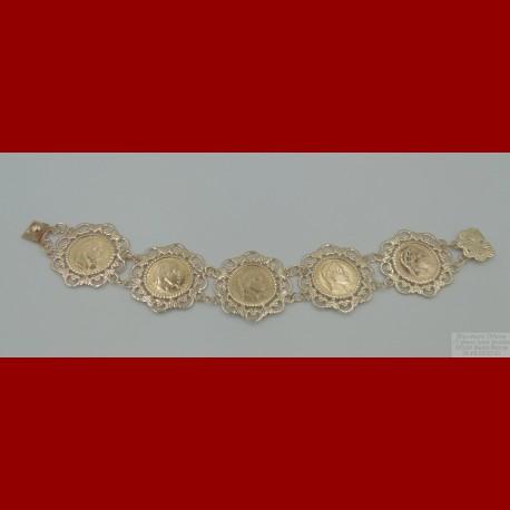 Porte Pièces Napoléon 10 Francs Complet Or 18 Carats