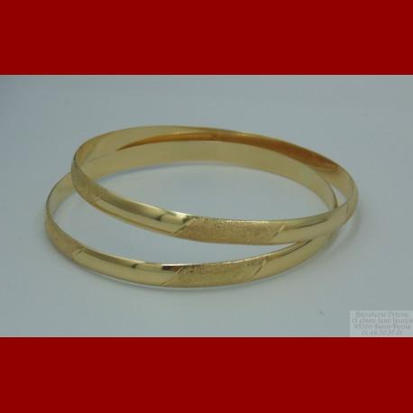 Bracelet Semainier Sablé à L'unité Or 18 Carats