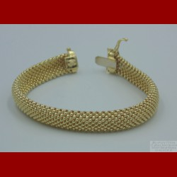 Bracelet Maille Pop Corn Or 18 Carats